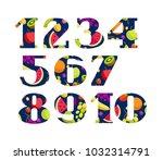 serif font. color  flat...