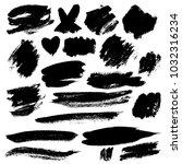 grunge brush stroke | Shutterstock .eps vector #1032316234