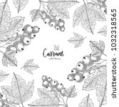 detailed frame with currant...   Shutterstock .eps vector #1032318565