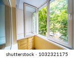 open window with a view of the... | Shutterstock . vector #1032321175