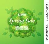 spring sale banner template...   Shutterstock .eps vector #1032340045