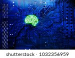 artificial intelligence... | Shutterstock . vector #1032356959