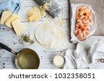 hot empanada shrimp  | Shutterstock . vector #1032358051