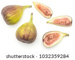 fresh figs top view isolated on ... | Shutterstock . vector #1032359284