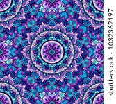 seamless pattern of mandala... | Shutterstock .eps vector #1032362197