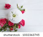 cream cosmetic natural pink... | Shutterstock . vector #1032363745