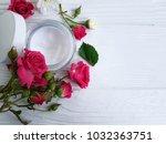 cream cosmetic natural pink... | Shutterstock . vector #1032363751