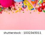 bright decor for a birthday ... | Shutterstock . vector #1032365011
