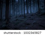 mysterious dark blue night... | Shutterstock . vector #1032365827