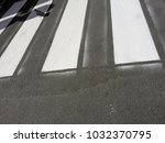 pedestrian strips with signs of ... | Shutterstock . vector #1032370795
