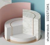 3d rendering  modern mock up ... | Shutterstock . vector #1032371041