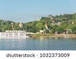 sagaing hill from ferry ... | Shutterstock . vector #1032373009