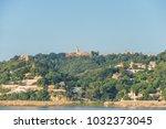 sagaing hill from ferry ... | Shutterstock . vector #1032373045