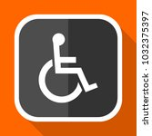 disabled orange vector icon in...   Shutterstock .eps vector #1032375397