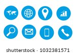 web icon set | Shutterstock .eps vector #1032381571