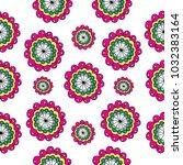 flowers seamless pattern | Shutterstock .eps vector #1032383164