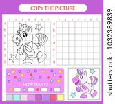 copy the picture unicorn using... | Shutterstock .eps vector #1032389839