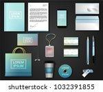 vector brochure  flyer  ... | Shutterstock .eps vector #1032391855