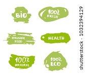 set of handwritten organic... | Shutterstock .eps vector #1032394129