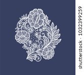 lace flowers decoration element | Shutterstock .eps vector #1032399259