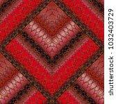 striped lattice 3d seamless... | Shutterstock .eps vector #1032403729