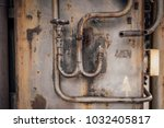 old rusty industry pipes  part... | Shutterstock . vector #1032405817