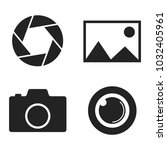 camera vector icon set for web... | Shutterstock .eps vector #1032405961