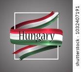 hungary flag. official national ...   Shutterstock .eps vector #1032407191