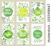 set of eco friendly labels...   Shutterstock .eps vector #1032408667