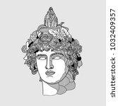 classical sculpture. vector... | Shutterstock .eps vector #1032409357