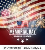 memorial day background... | Shutterstock .eps vector #1032428221