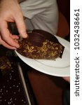 Small photo of Derogation from cake. Chocolate.