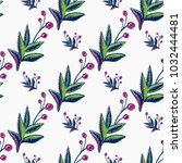 embroidery floral patches... | Shutterstock .eps vector #1032444481