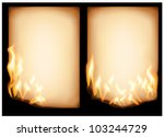 The Vector Image Of  Burning...