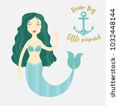 image of a cartoon mermaid | Shutterstock . vector #1032448144
