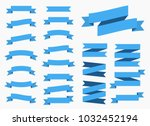 ribbons banners isolated on... | Shutterstock . vector #1032452194