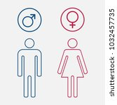 male and female  set of gender... | Shutterstock . vector #1032457735