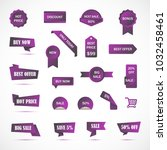 vector stickers  price tag ... | Shutterstock .eps vector #1032458461
