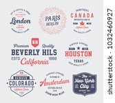 vintage badges collection. t... | Shutterstock .eps vector #1032460927