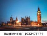 london famous view. long... | Shutterstock . vector #1032475474