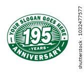 195 years anniversary.... | Shutterstock .eps vector #1032477577