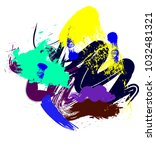 abstract colorful brush strokes ... | Shutterstock .eps vector #1032481321