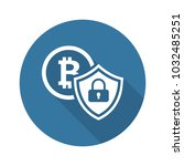 cryptocurrency security icon.... | Shutterstock .eps vector #1032485251