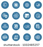 blockchain cryptocurrency icons.... | Shutterstock .eps vector #1032485257