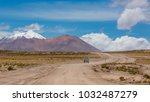 andes region  bolivia with snow ...   Shutterstock . vector #1032487279