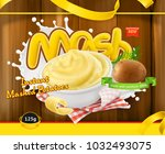 instant mashed potatoes. design ... | Shutterstock .eps vector #1032493075