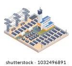modern isometric industrial... | Shutterstock .eps vector #1032496891