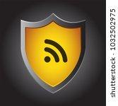 shield icon   wifi rss feed