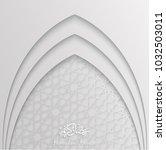 ramadan backgrounds vector with ... | Shutterstock .eps vector #1032503011