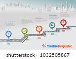 business road map timeline...   Shutterstock .eps vector #1032505867